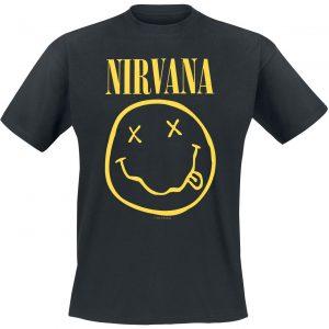 Nirvana Smiley T-Shirt Black