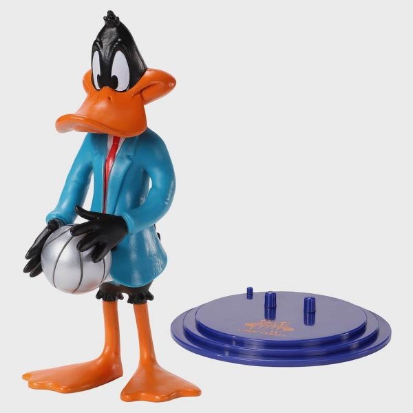 Noble Collection Space Jam: A New Legacy Daffy Duck BendyFig 7.5 Inch Action Figure