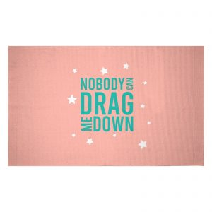 Nobody Can Drag Me Down Woven Rug – Small