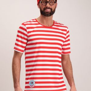 Online Exclusive Where's Wally Red & White Costume 3 Part Se