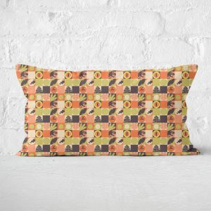 Orange Jurassic Park Rectangular Cushion 30×50 – 30x50cm – Soft Touch