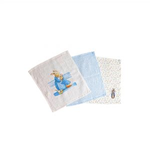 Pack Of 3 Peter Rabbit Collection Baby Face Cloths