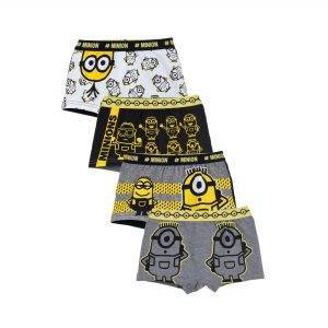 Pack Of 4 Boys Minions Trunks
