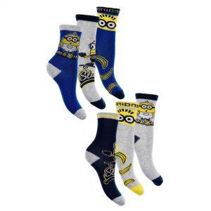 Pack Of 6 Boys Minions Socks