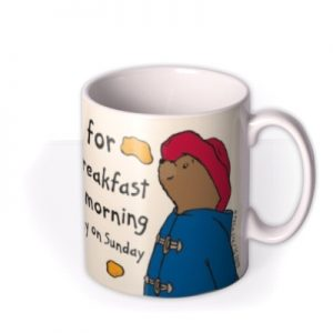Paddington Bear Marmalade Breakfast Personalised Name Mug By Moonpig, Gift Set – Delivery Available