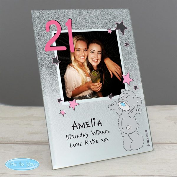 Personalised Me to You Sparkle and Shine Glass Photo Frame