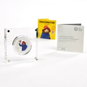 Personalised Paddington Bear Silver Proof Fifty Pence Coin In A Deluxe Box