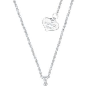 Peter Pan Disney By Couture Kingdom – Believing Is Just The Beginning Necklace Silver Coloured