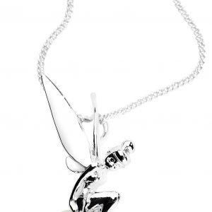 Peter Pan Disney By Couture Kingdom – Tinker Bell Pearl Necklace Silver Coloured