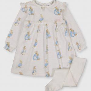Peter Rabbit Dress & Tights – 3-6 Months