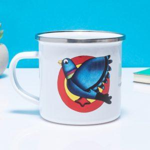 Pigeon Street Enamel Mug