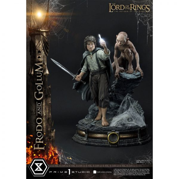 Prime 1 Studio Lord of the Rings Statue 1/4 Frodo & Gollum Bonus Version 46 cm