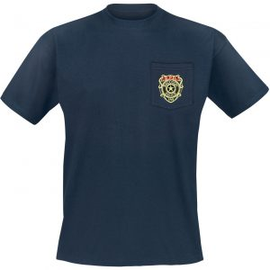 Resident Evil Raccoon Police Department – Pocket T-Shirt Blue