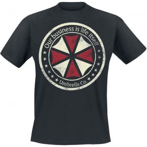 Resident Evil Umbrella Co. – Our Business Is Life Itself T-Shirt Black