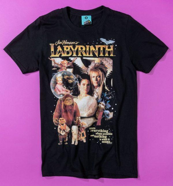 Retro Labyrinth Black T-Shirt