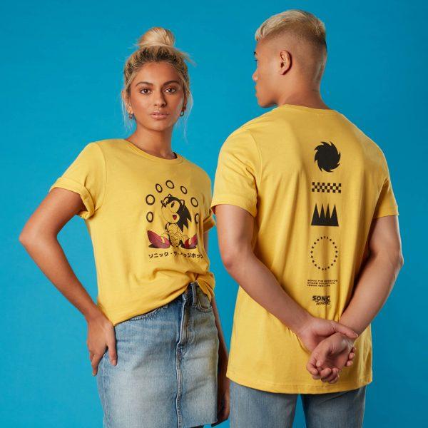 Rings Sonic the Hedgehog Unisex T-Shirt - Yellow - XS - Yellow