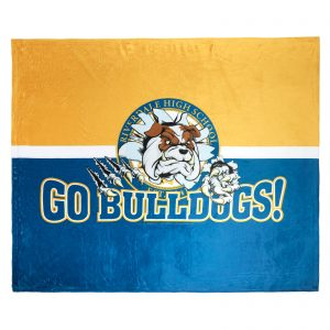 Riverdale Bulldog Fleece Blanket