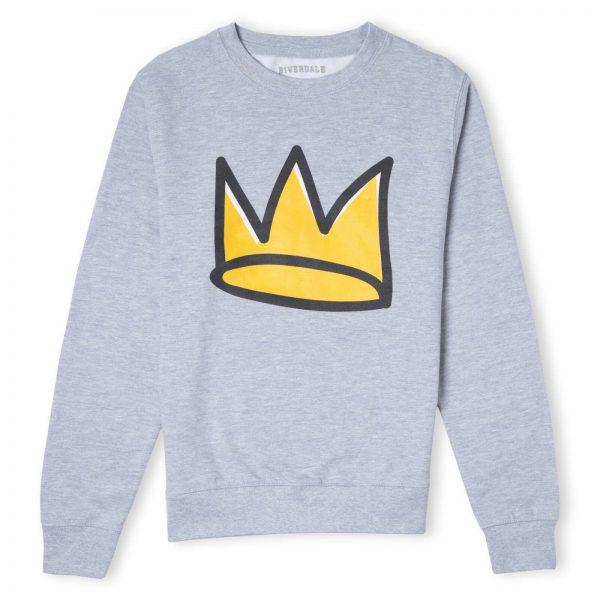 Riverdale Jughead Crown Unisex Sweatshirt - Grey - S