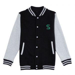 Riverdale South Side Serpent Varsity Jacket – Black/Grey – S – Black