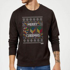 Rubiks Merry Cubemas Christmas Sweatshirt – Black – S