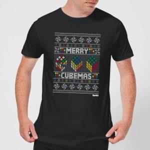 Rubiks Merry Cubemas Men's Christmas T-Shirt – Black – XS – Black