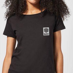 Rubik's Rubiks Box Pocket Women's T-Shirt – Black – S – Black