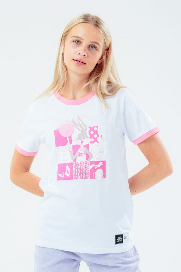 SPACE JAM X HYPE. PINK HOLOGRAPHIC KIDS T-SHIRT
