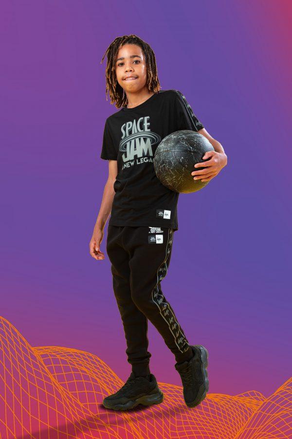 SPACE JAM X HYPE. SPACE JAM BLACK REFLECTIVE KIDS JOGGERS
