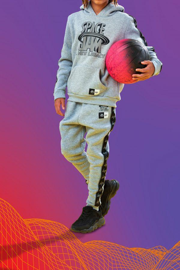 SPACE JAM X HYPE. SPACE JAM GREY REFLECTIVE KIDS JOGGERS