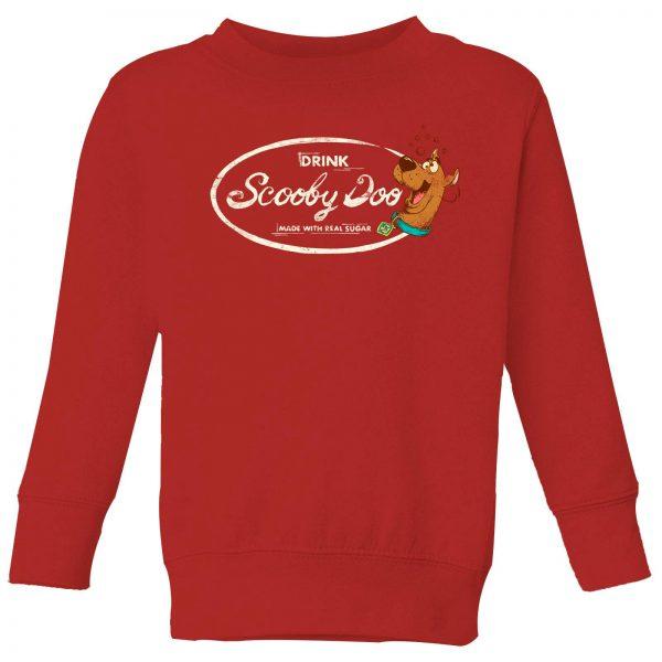 Scooby Doo Cola Kids' Sweatshirt - Red - 3-4 Years