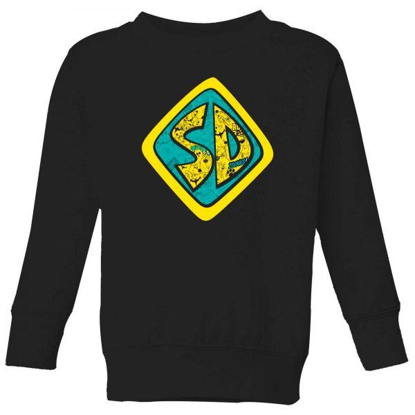 Scooby Doo Emblem Kids' Sweatshirt - Black - 3-4 Years - Black