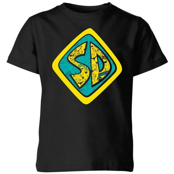 Scooby Doo Emblem Kids' T-Shirt - Black - 3-4 Years - Black