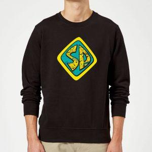 Scooby Doo Emblem Sweatshirt – Black – S – Black