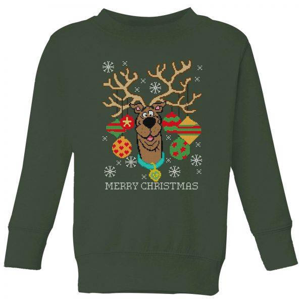 Scooby Doo Kids' Christmas Sweatshirt - Forest Green - 3-4 Years