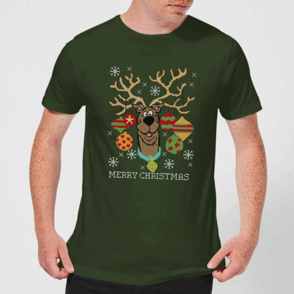 Scooby Doo Men's Christmas T-Shirt - Forest Green - XS - Forest Green