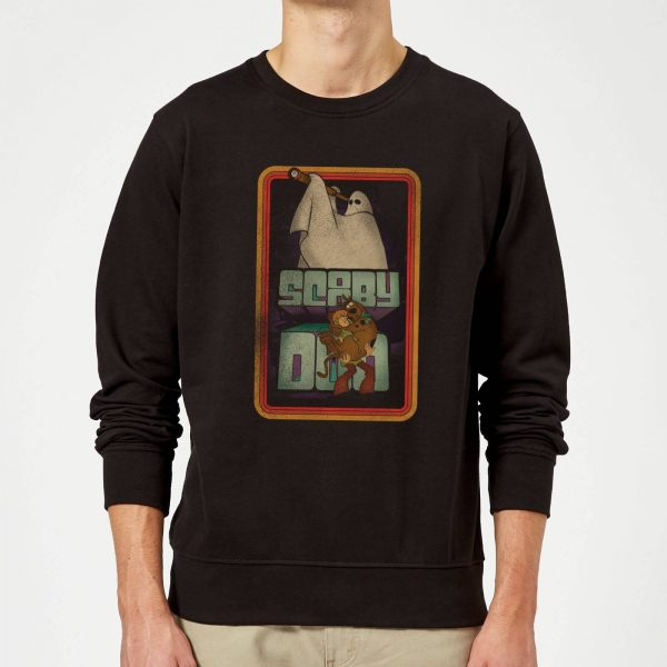 Scooby Doo Retro Ghostie Sweatshirt - Black - S - Black