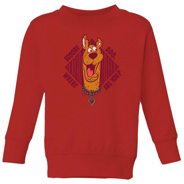 Scooby Doo Where Are You? Kids' Sweatshirt - Red - 3-4 Years
