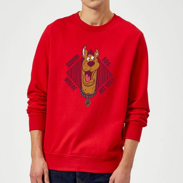 Scooby Doo Where Are You? Sweatshirt - Red - S - Red