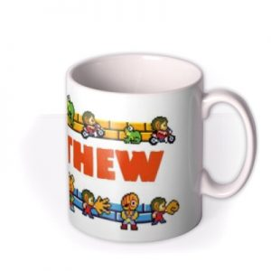 Sega Alex Kid Personalised Mug By Moonpig, Gift Set – Delivery Available