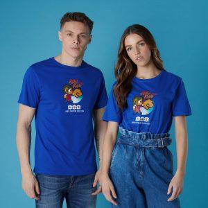 Sega Alex Kidd Unisex T-Shirt – Royal Blue – XS – White