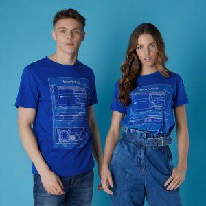 Sega Master System Blueprints Unisex T-Shirt – Royal Blue – S – Royal Blue