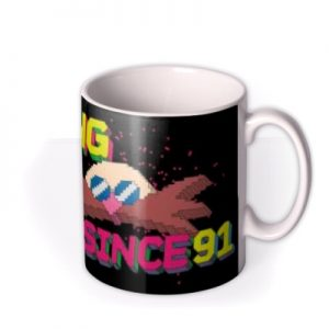 Sega Sonic Bossing It Since 91 Retro Mug By Moonpig, Gift Set – Delivery Available