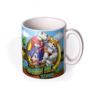 Sega Sonic Green Hill Zone Photo Upload Mug By Moonpig, Gift Set – Delivery Available