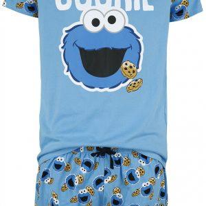 Sesame Street Vintage Cookie Lover Pyjama Blue