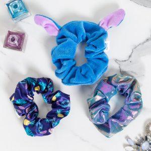 Set Of Three Disney Lilo & Stitch Scrunchies