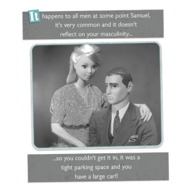 Sexual Dysfunction Barbie Doll Card