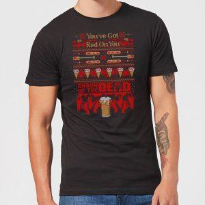 Shaun Of The Dead You've Got Red On You Christmas Men's T-Shirt – Black – XS – Black
