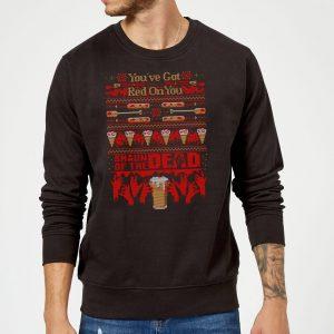 Shaun Of The Dead You've Got Red On You Christmas Sweatshirt – Black – S – Black