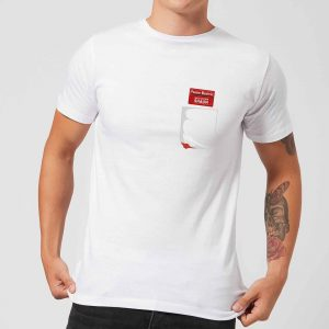 Shaun Of The Dead You've Got Red On You Pocket T-Shirt – White – S – White