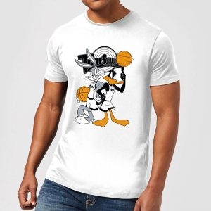 Space Jam Bugs And Daffy Tune Squad Men's T-Shirt – White – S – White